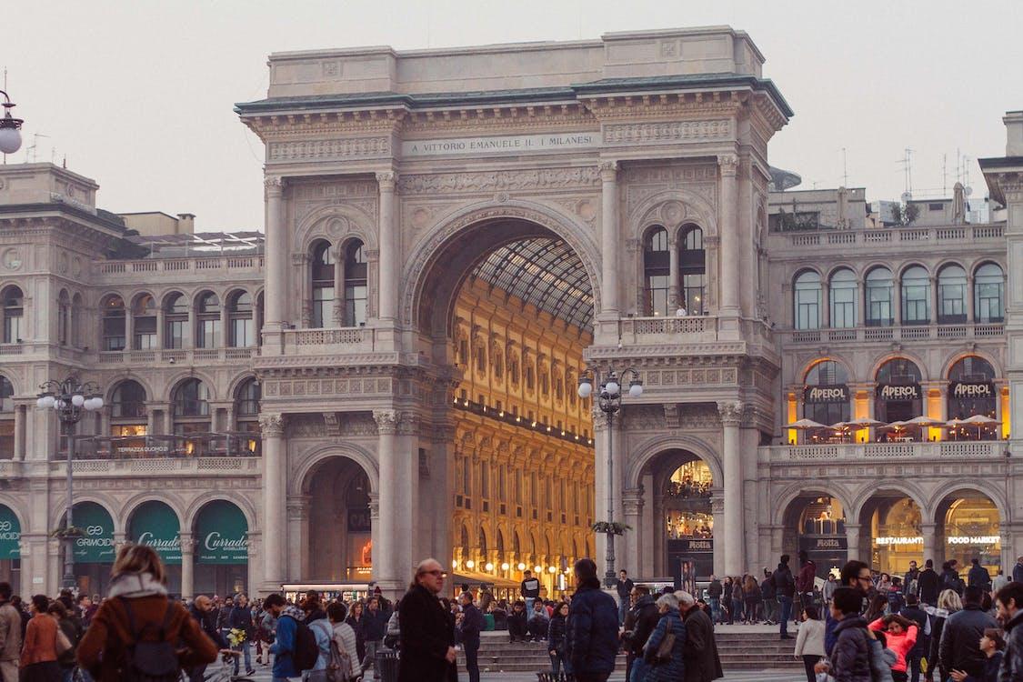arkitektur, bue, butikker