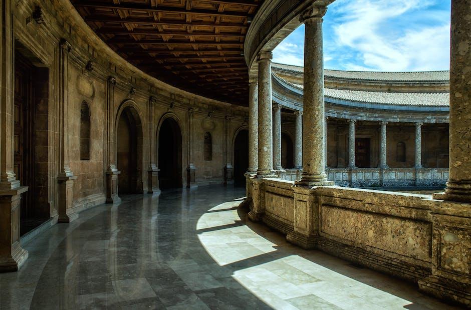 Empty hallway of building