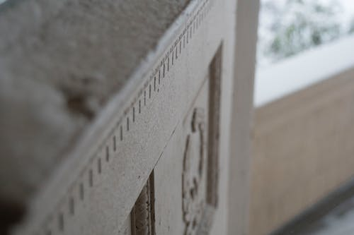 Free stock photo of architectural detail, front door, snow