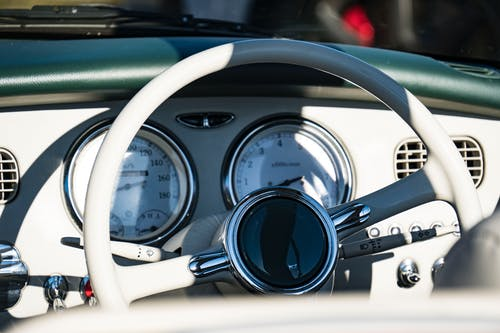 Free stock photo of car, car interior, classic car, dashboard