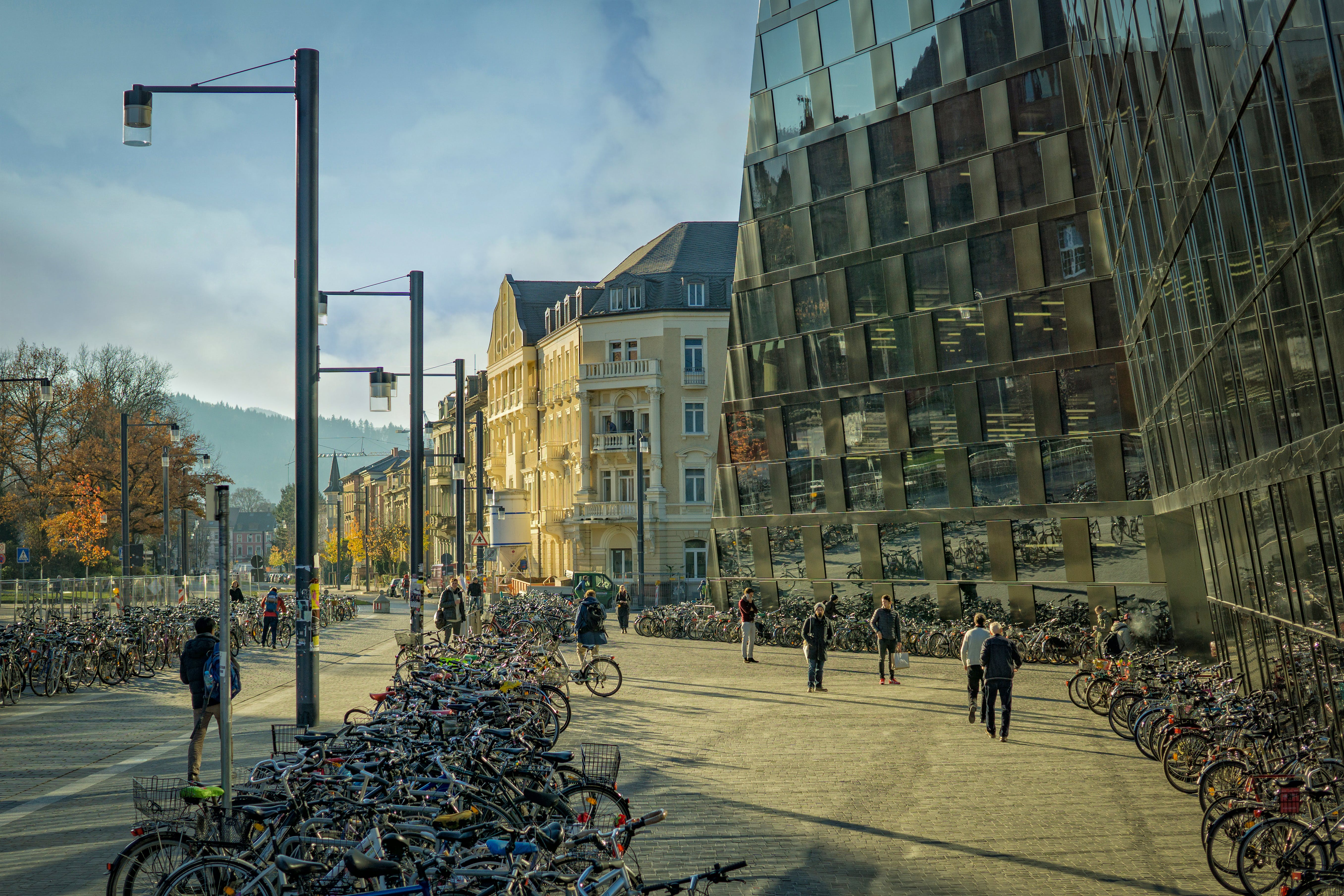 architecture, bicycles, buildings