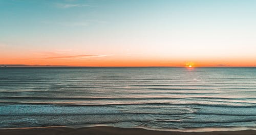 Free stock photo of beach, dawn, drone, drone shot