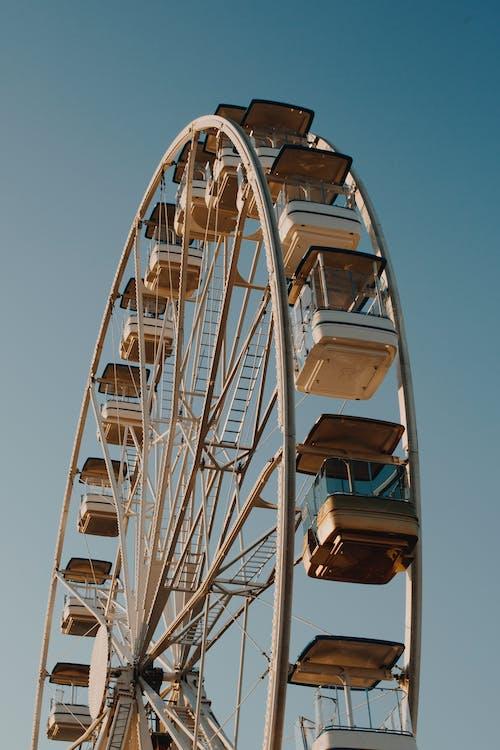 arkitektur, blå himmel, cirkus