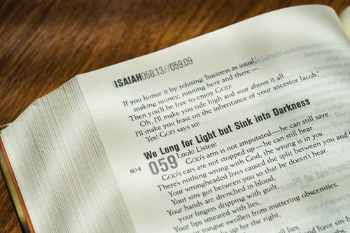 Free stock photo of bible, christianity, Isaiah