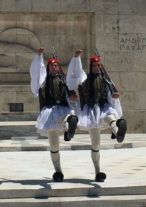 Free stock photo of athens, greece, parliament, soldiers