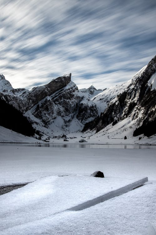 Free stock photo of ice, landscape, long-exposure, mountain lake