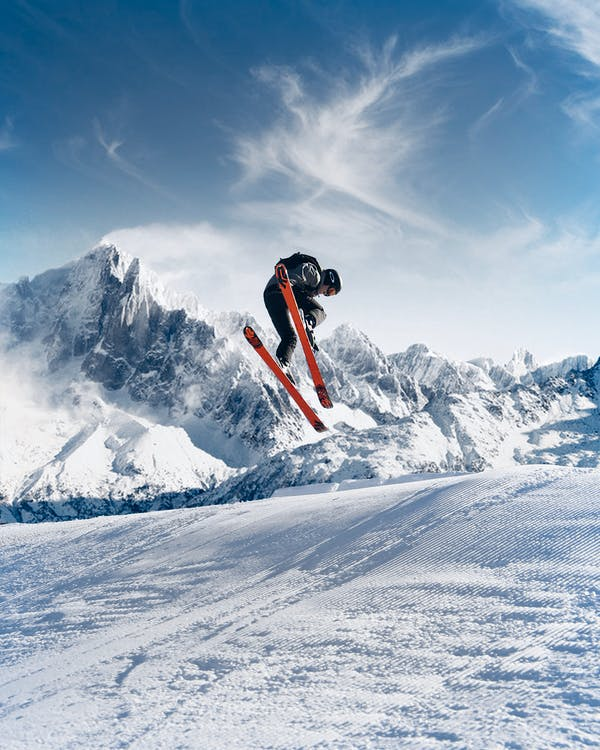 Photo of Person Skiing on Snowfield