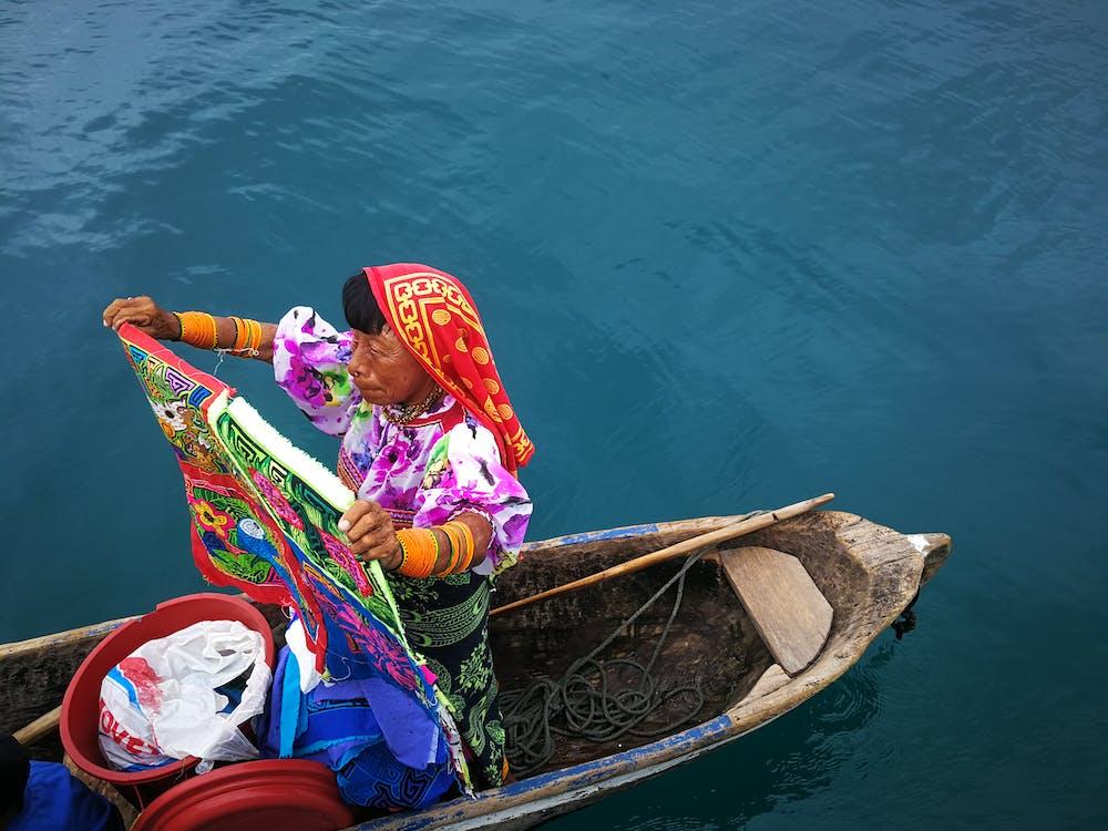Woman on Canoe