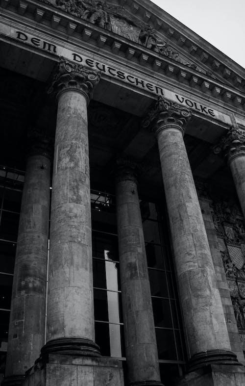 Kostnadsfri bild av arkitektur, berlin, gammal byggnad, riksdagens byggnad
