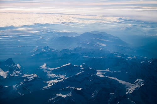 Free stock photo of alps, blue, blue mountains