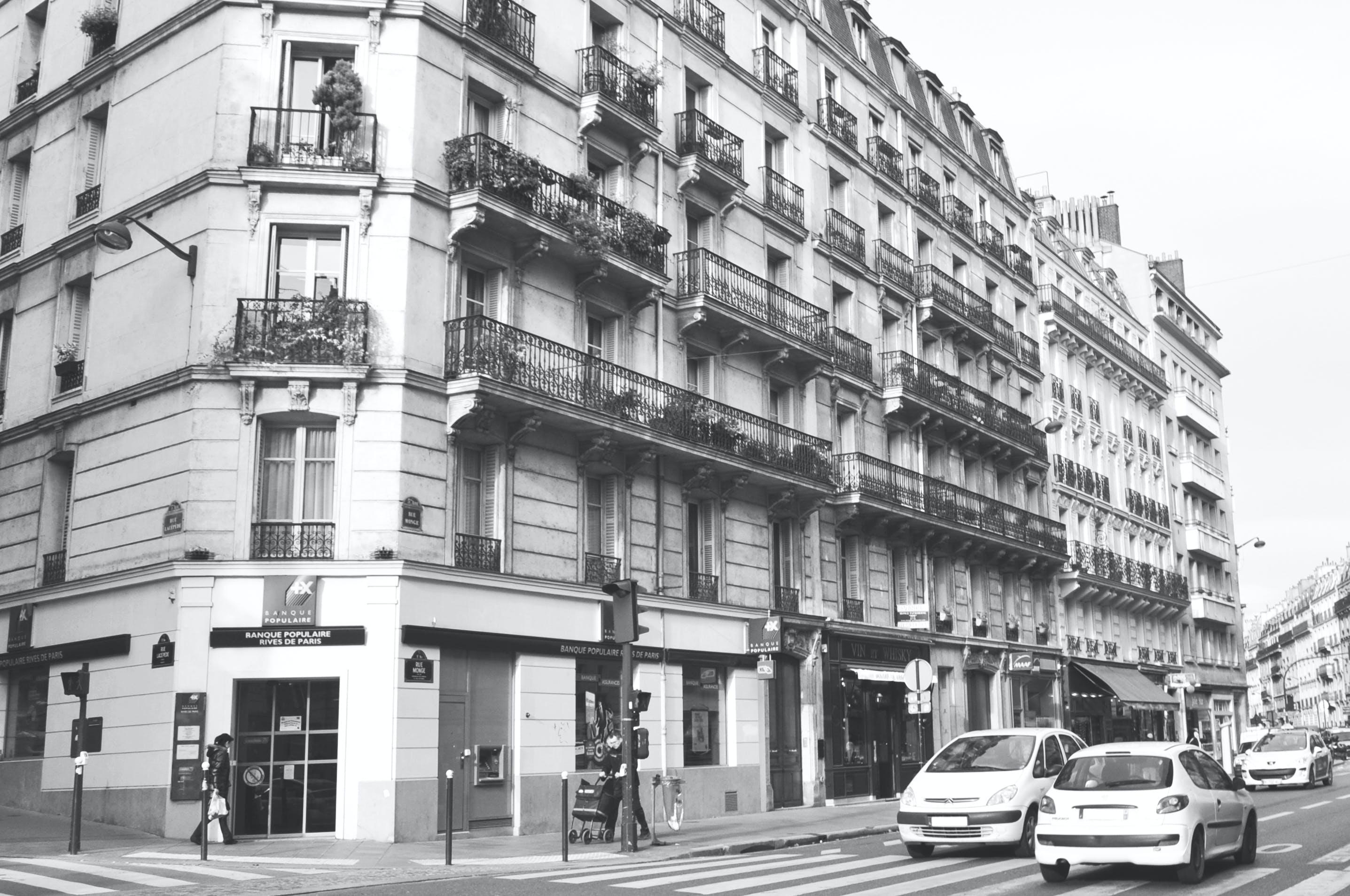 Foto stok gratis Apartemen, Arsitektur, fotografi sudut lebar, gedung apartemen