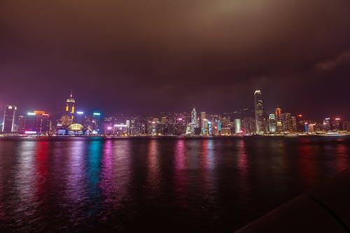 Darmowe zdjęcie z galerii z długa ekspozycja, hong kong, krajobraz