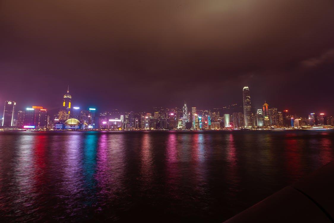 exposición larga, Hong Kong, paisaje