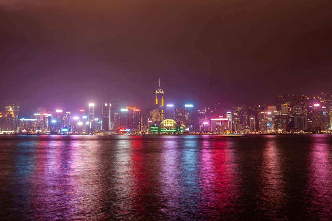 architektura, dlouhá expozice, Hongkong