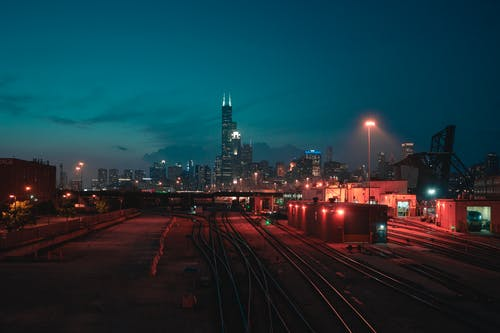 Photo of Train Station During Night