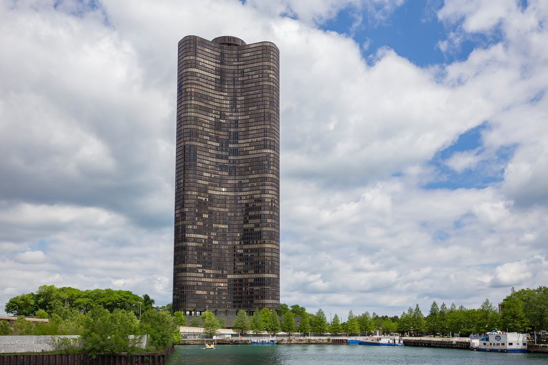 arkitektur, byggnad, chicago