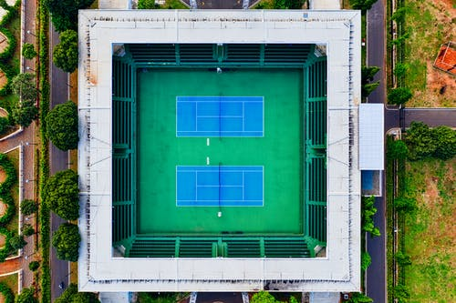 Aerial Photography of Tennis Court