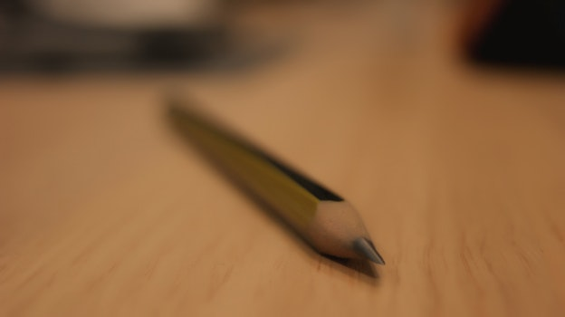 Free stock photo of wood, desk, pencil, depth of field