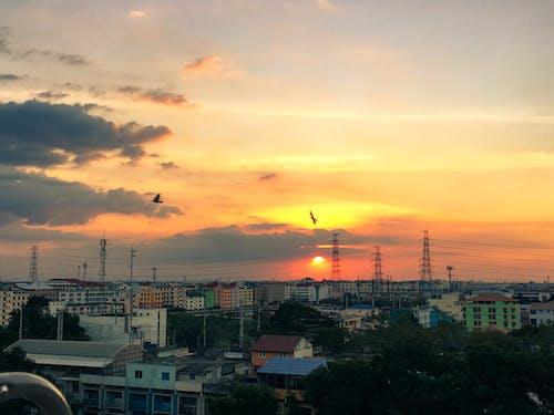 Foto profissional grátis de Bangkok, céu azul, gostar, horizonte