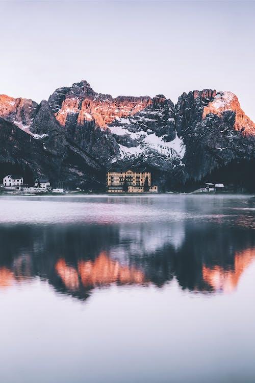 Imagine de stoc gratuită din Alpi, amurg, apă, apus