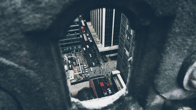 Kostenloses Stock Foto zu autos, gebäude, perspektive, stadt