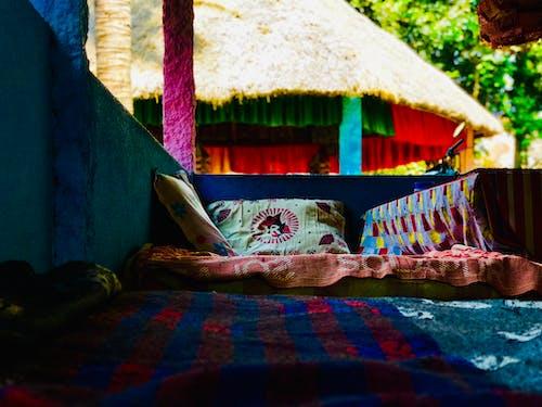 インドア, カラフル, くつろぎ, テントの無料の写真素材