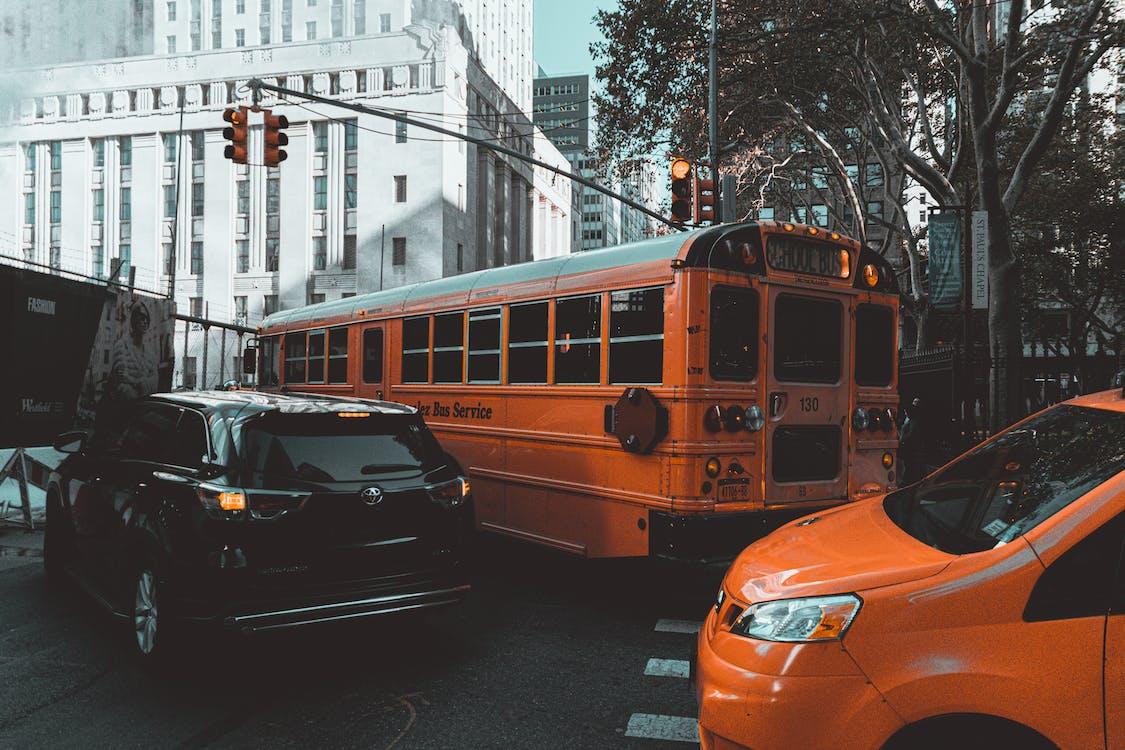 amérique, autobus, bus