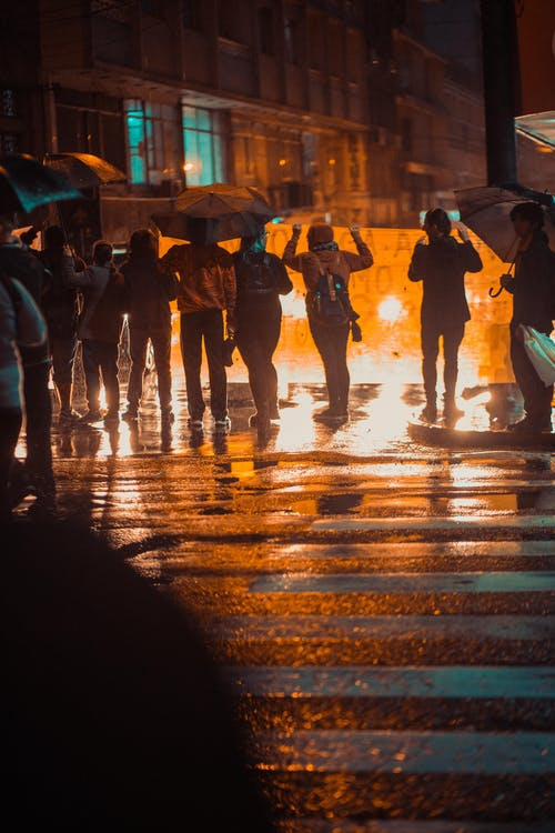Free stock photo of night, riot, urban