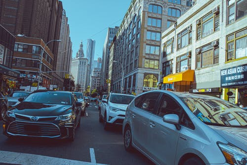 Free stock photo of america, car, cars, city