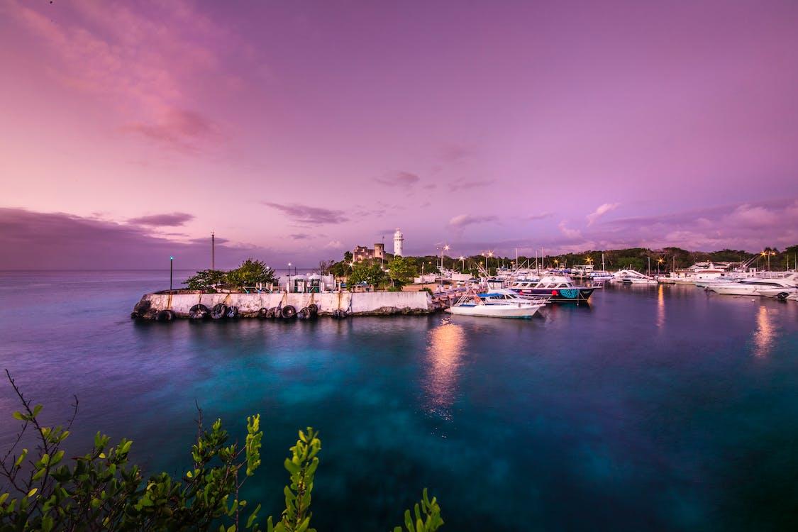 Dock Under Purple Sky