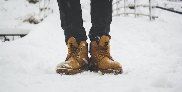 Free stock photo of cold, snow, fashion, man