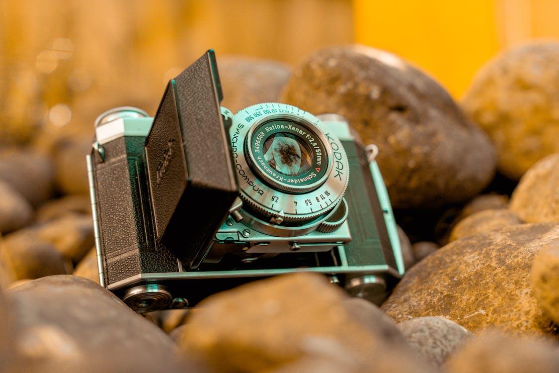 acier, ancien appareil photo, appareil photo