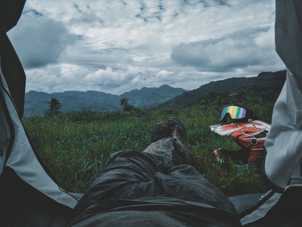 acampamento, ao ar livre, aventura