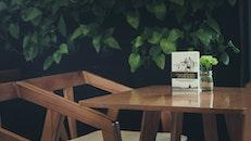 wood, light, table
