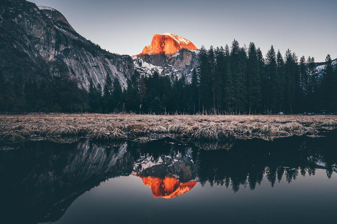反射, 屋外, 山