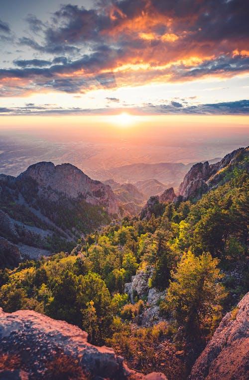 Бесплатное стоковое фото с HD-обои, вид, восход, горный туризм