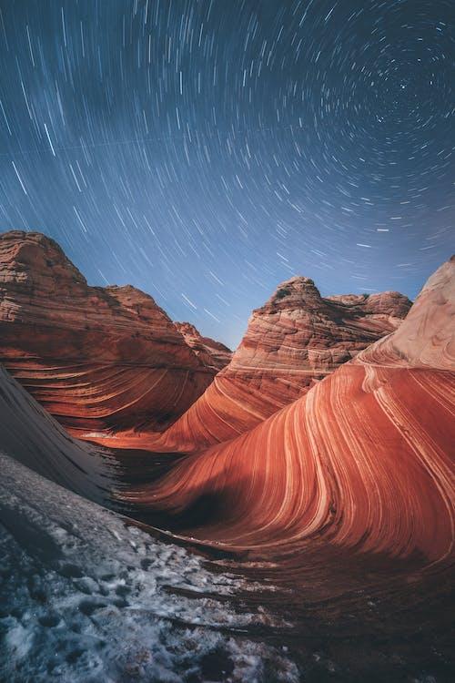 çöl, dağ, doğa, gezegen içeren Ücretsiz stok fotoğraf