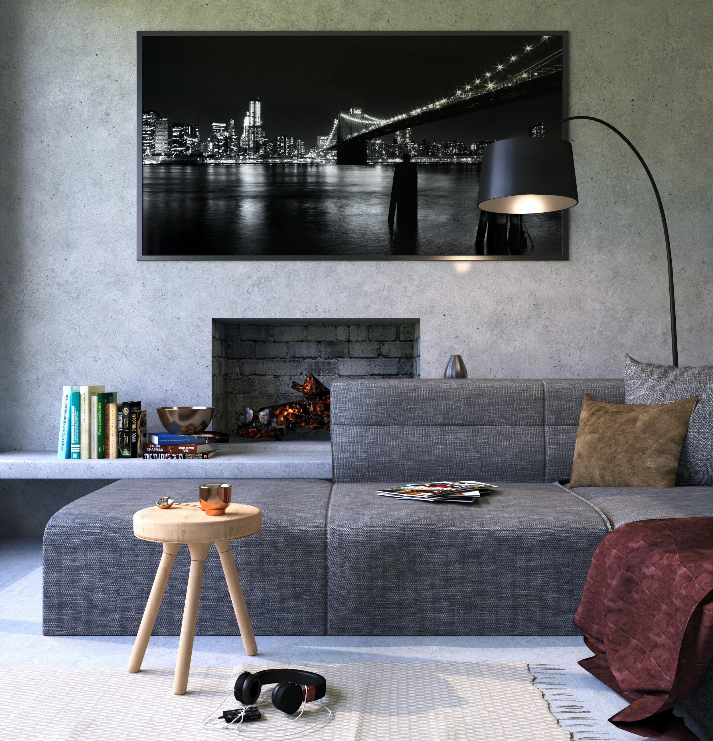 Modern Living Room Free Stock Photo
