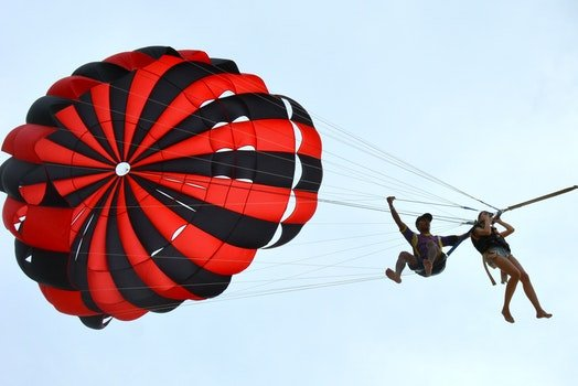 Free stock photo of #parasailing