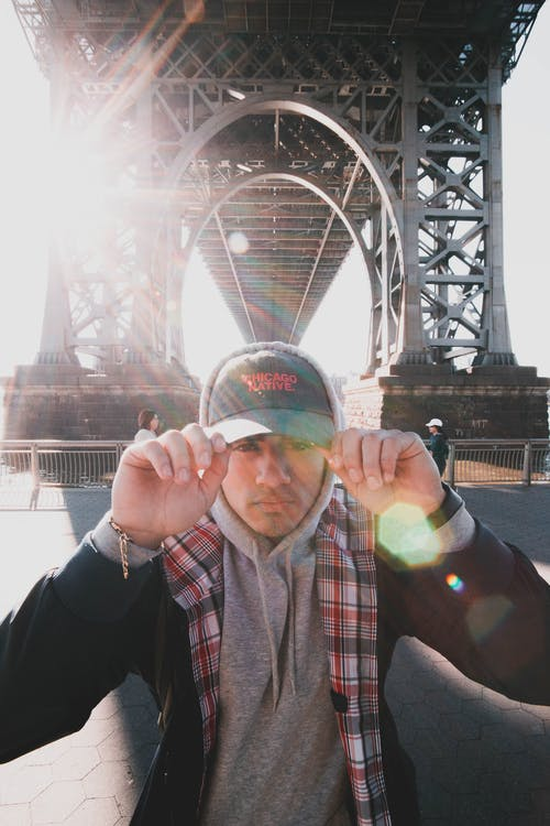 Photo of Man Wearing Cap and Hoodie