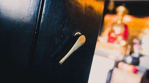 골드, 목조, 문 손잡이, 반사의 무료 스톡 사진
