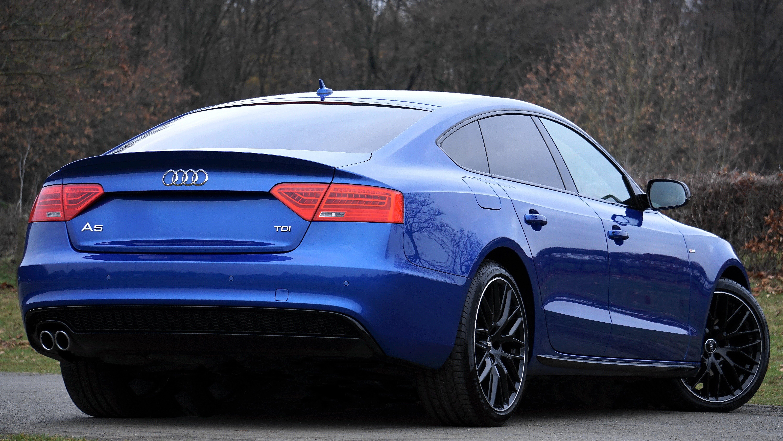 Blue Audi A5