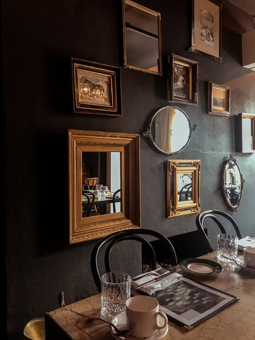 Framed Mirrors on Wall