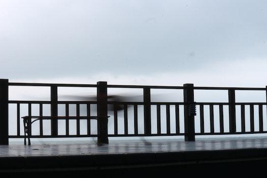 Free stock photo of wood, bench, jetty, light
