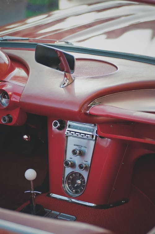 Classic Red Car Interior