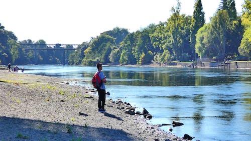 Foto d'estoc gratuïta de adolescent, caminada, riu