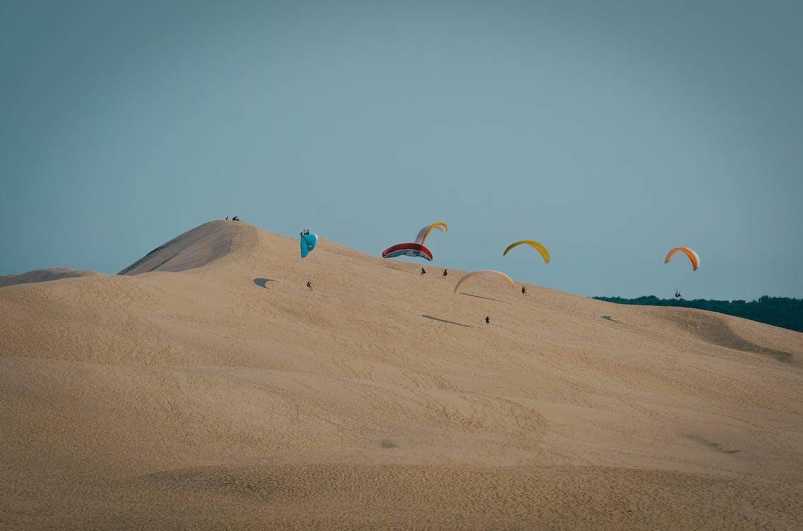 메마른, 모래, 모래 언덕
