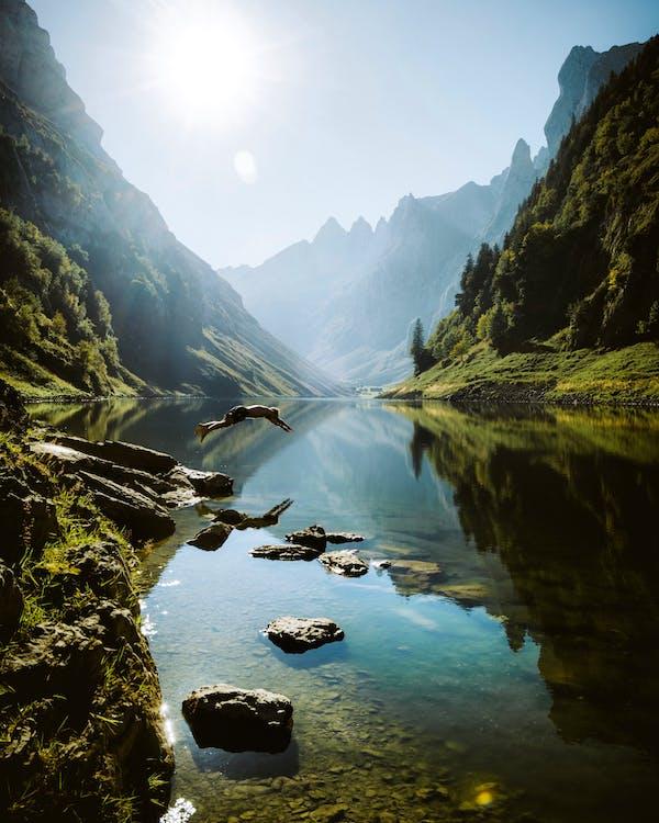 hora, krajina, malebný