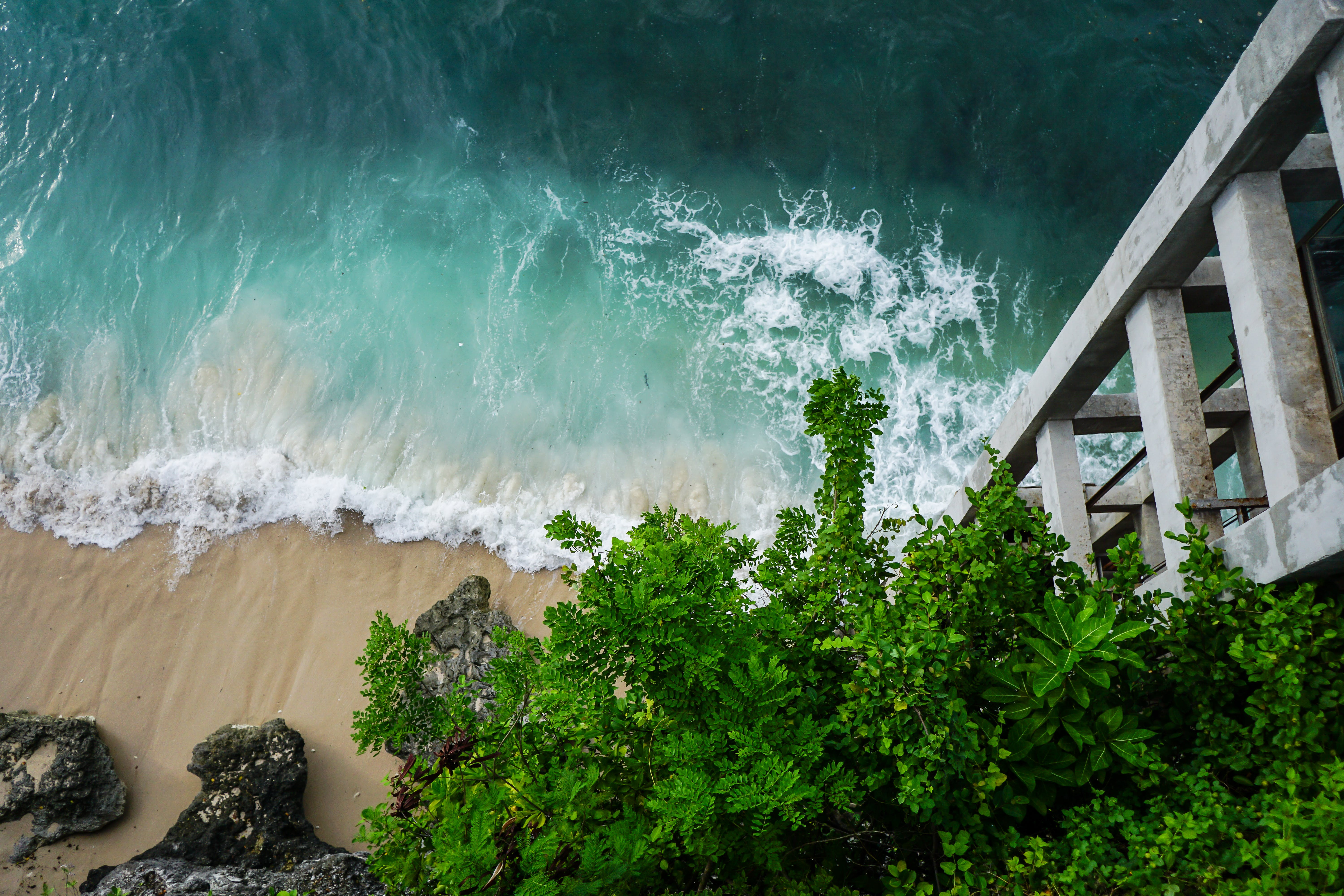Free stock photo of nature, beach, wave, cliff