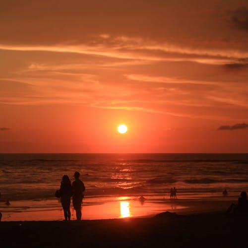 Безкоштовне стокове фото на тему «апельсин, Балі, Захід сонця, пляж»